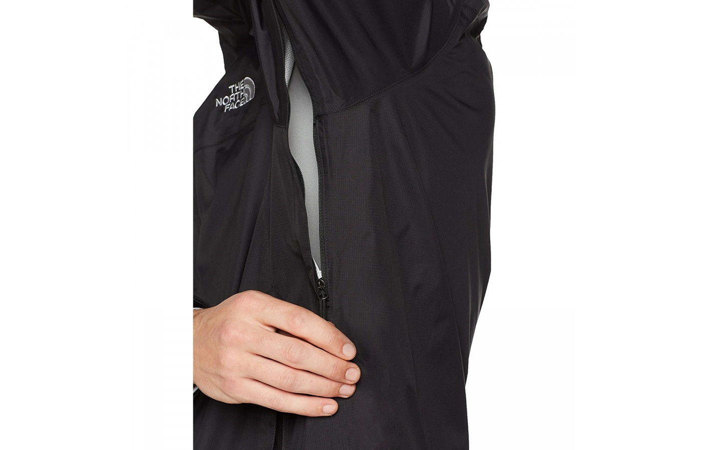 The North Face Venture 2 has pit-zip venting for additional breathability.