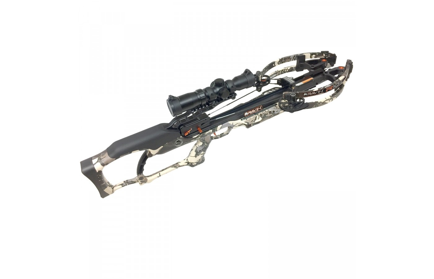 This crossbow is lightweight and compact.