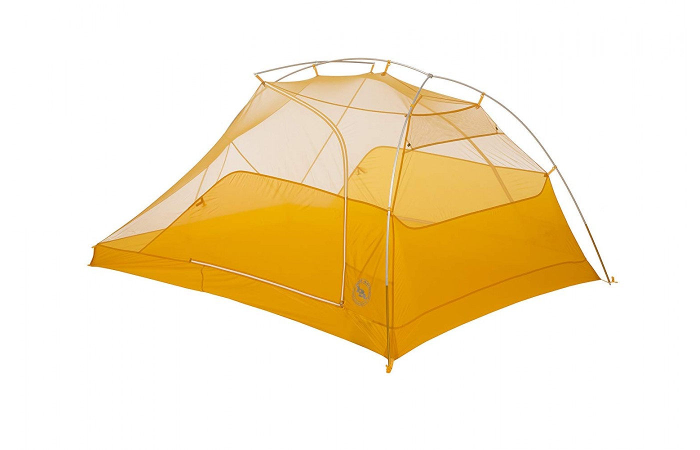 The tent is made out of lightweight materials.