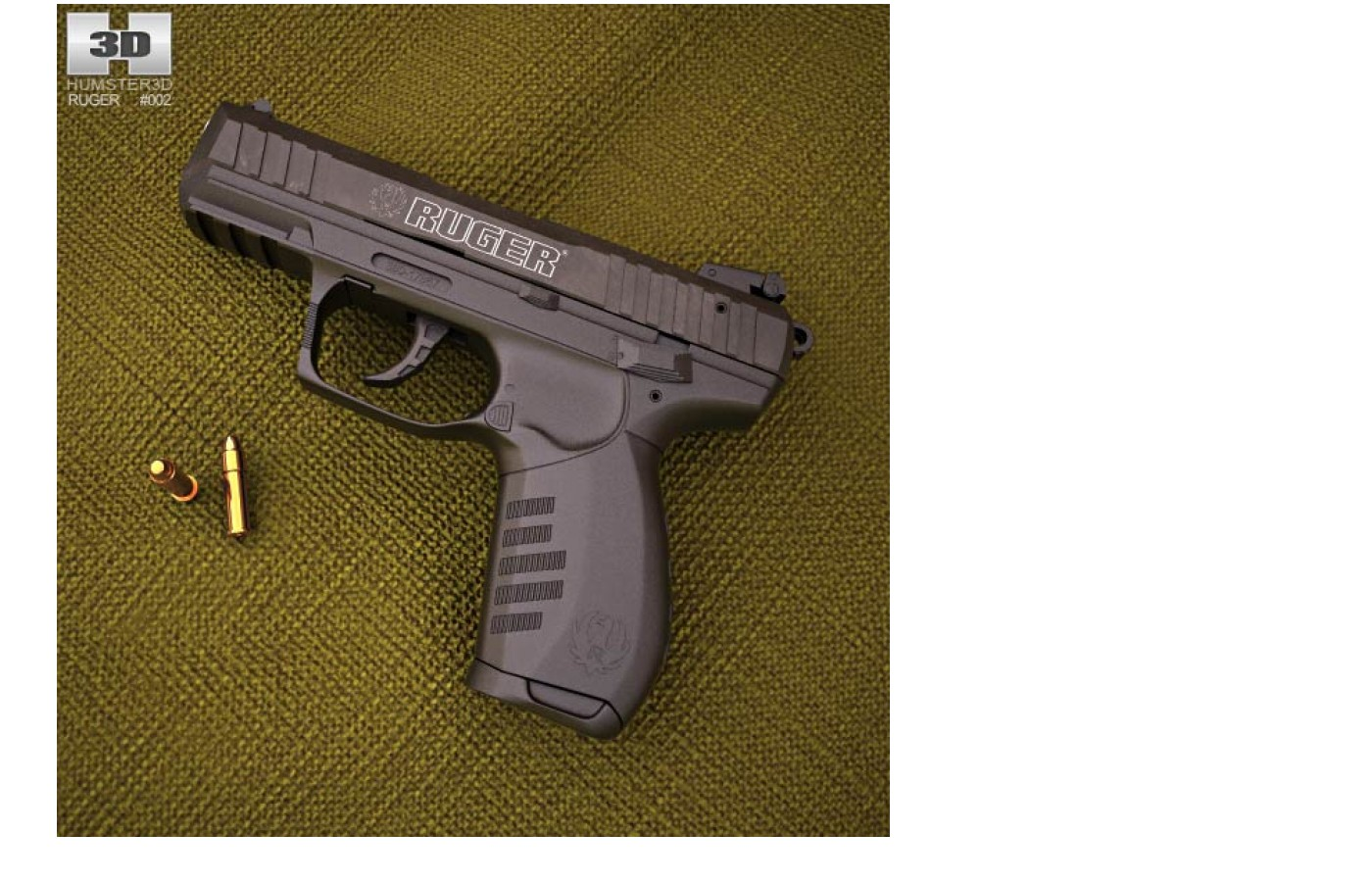 This handgun is small and lightweight.