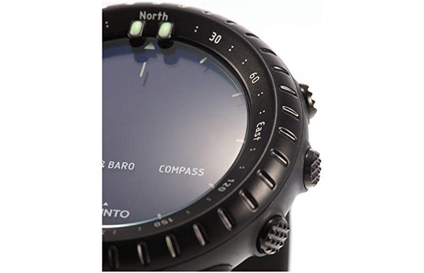 The watch is waterproof up to 100 feet deep.