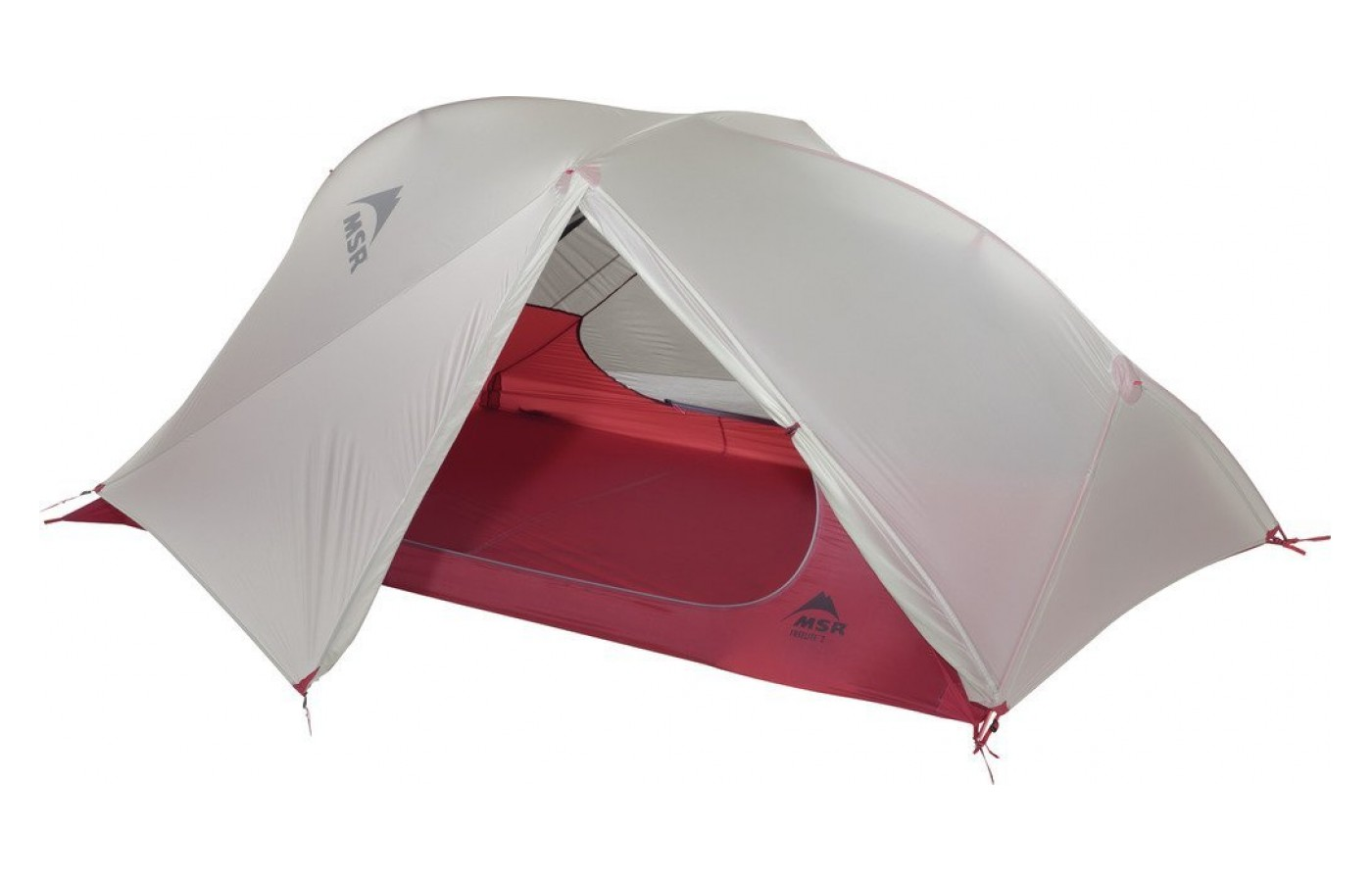 This tent is made out of lightweight materials.