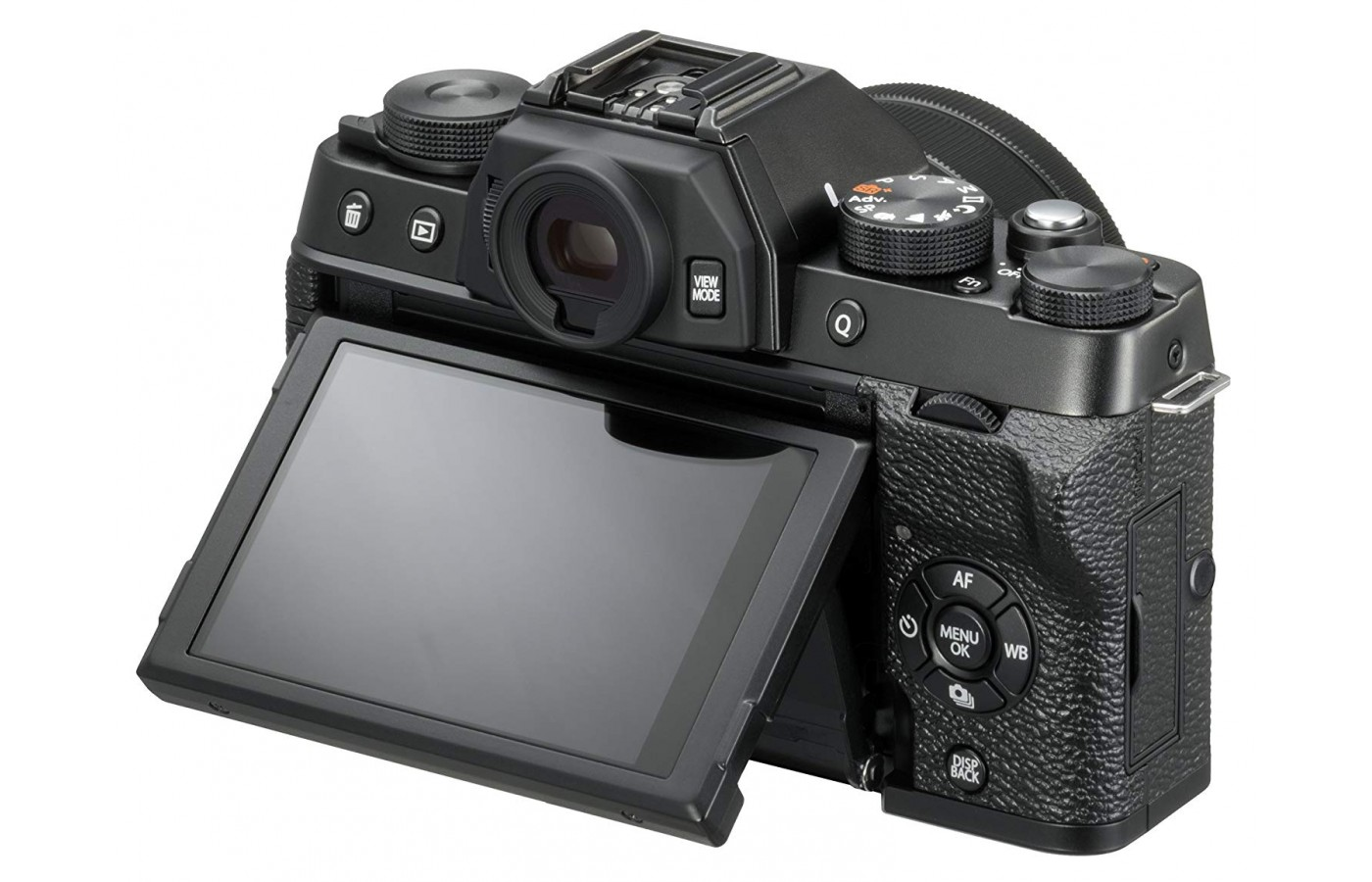 This is one of the few mirrorless cameras with a viewfinder.