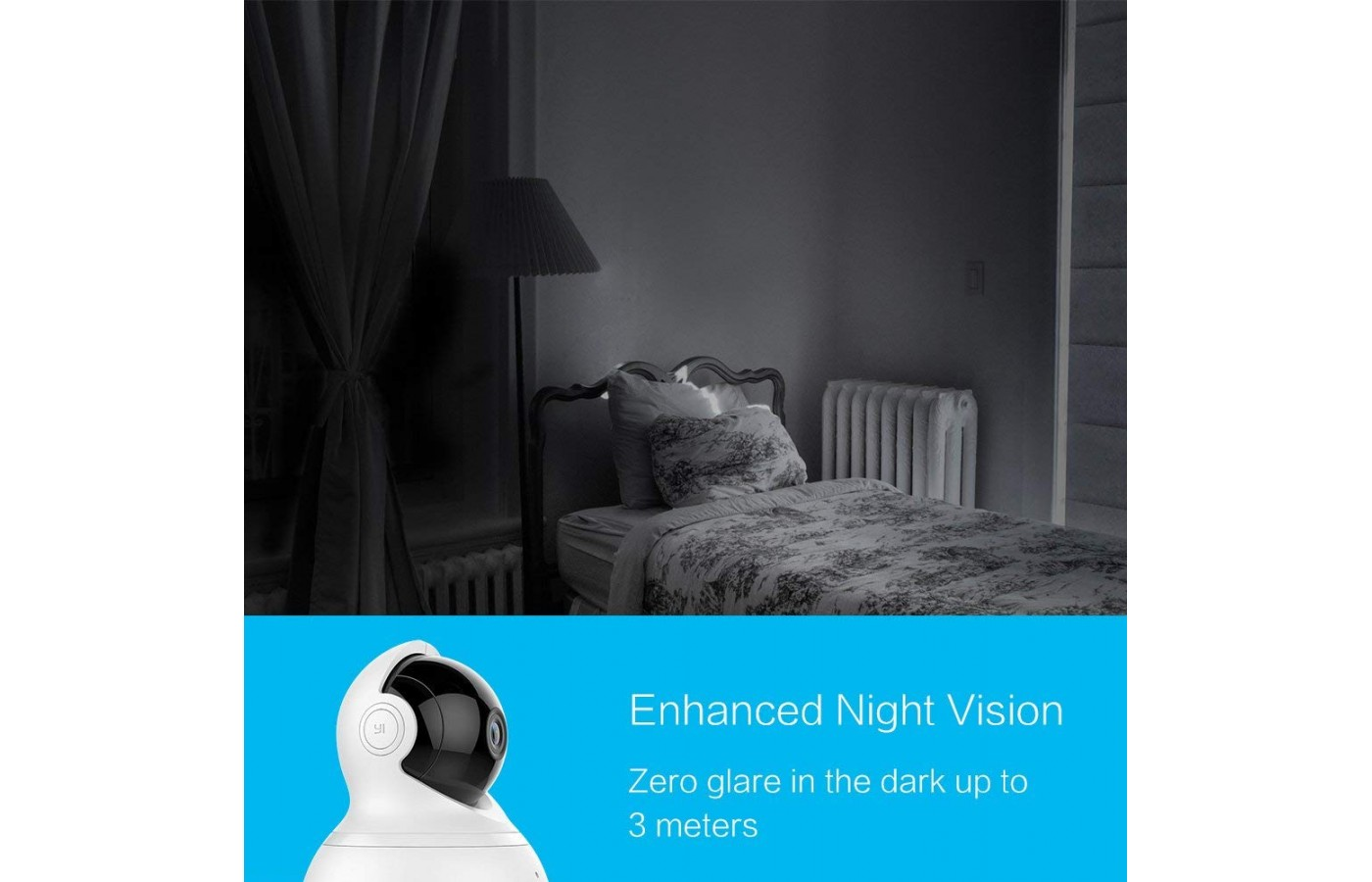 The YI Dome offers night vision with zero glare.