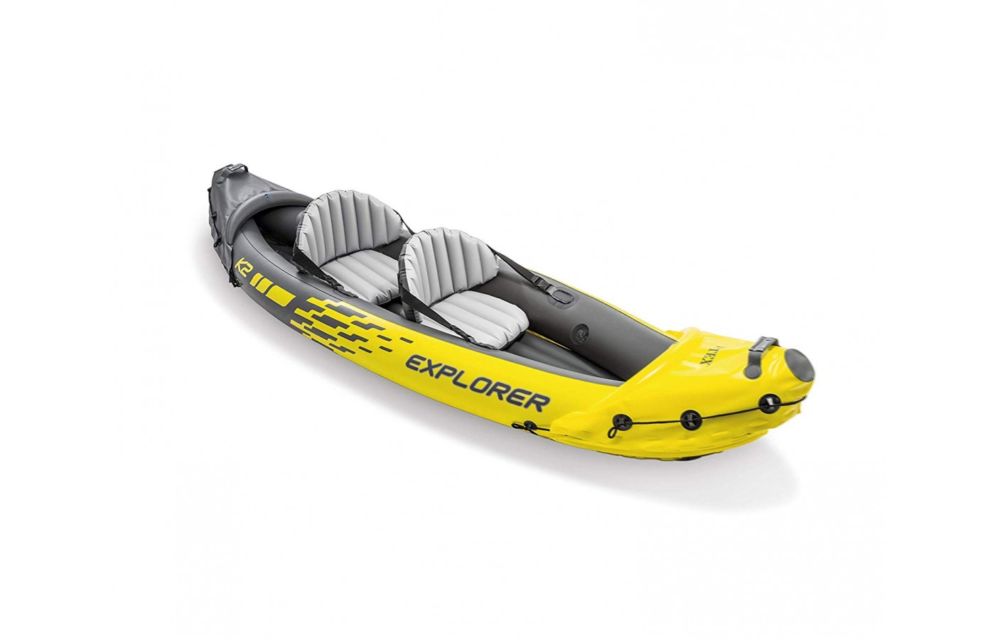 Two average-sized adults have plenty of room in the kayak.