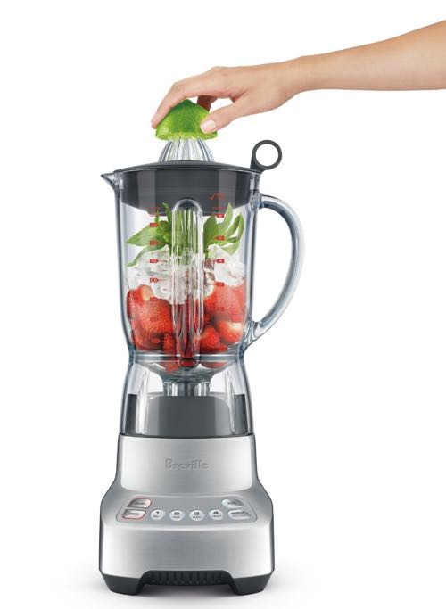 A Breville assist lid having an inner measuring lid and juicing cone are included accessories.