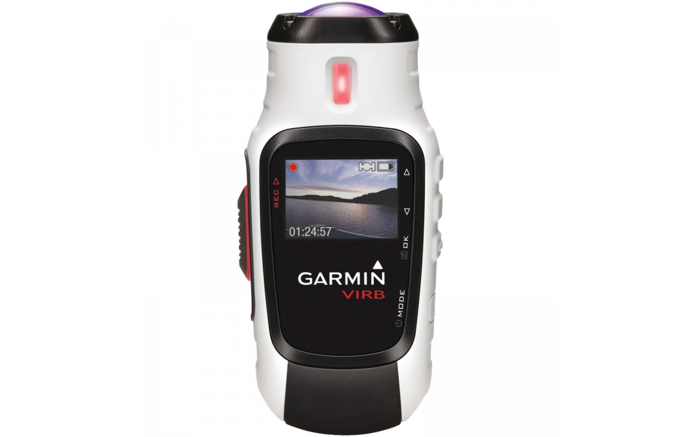 The Garmin Virb Elite has a rechargeable and removable battery for all day use.