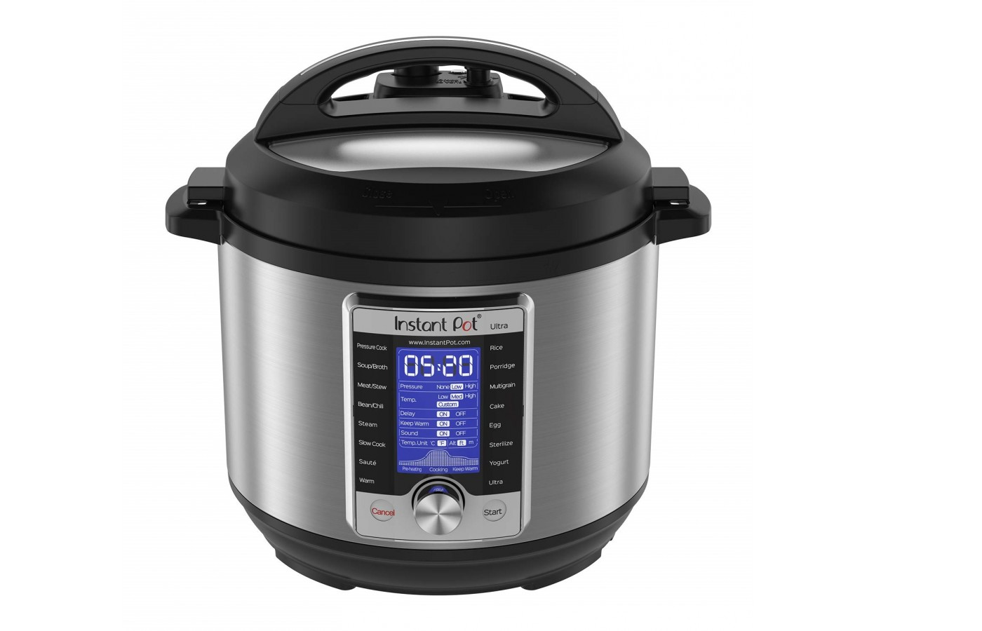 The Instant Pot Duo offers 70% quicker cook times.