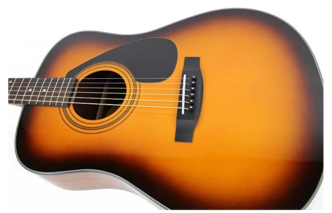 This guitar has a built in tuner for ease of set-up.