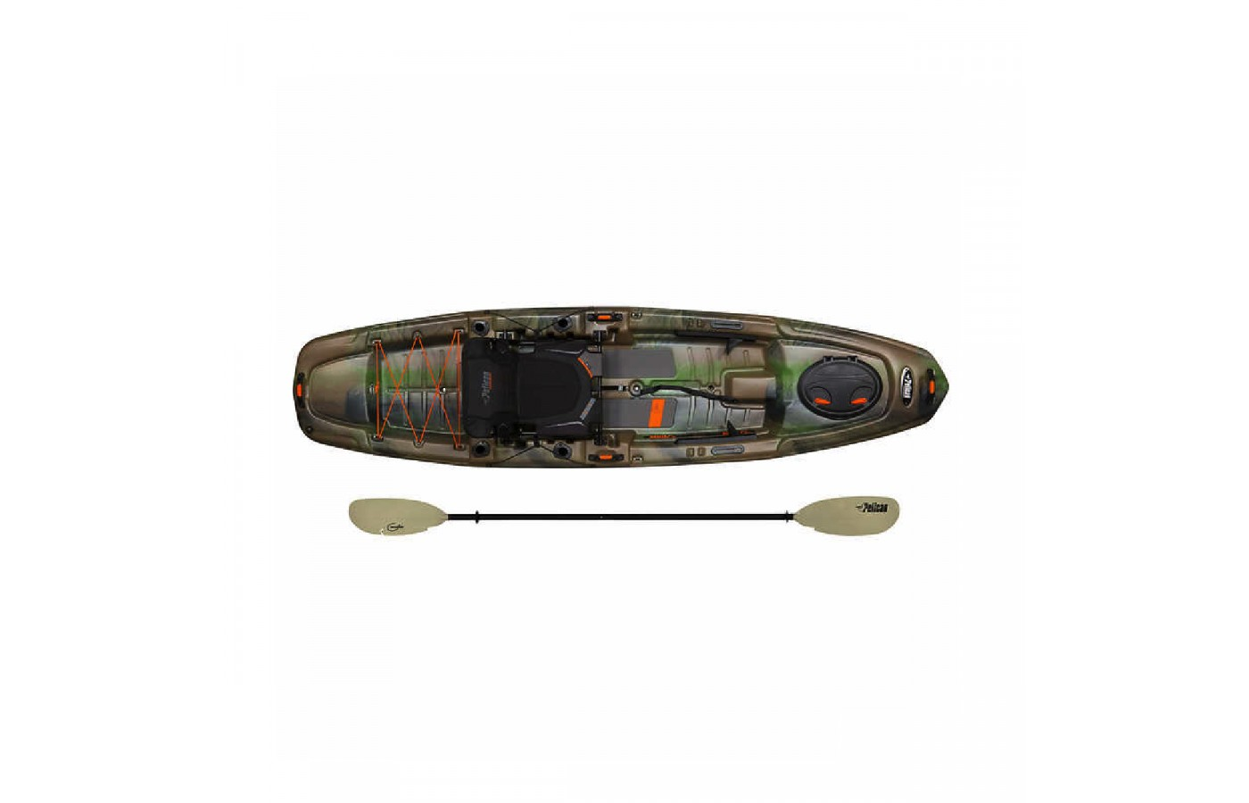 The Pelican Catch 120 offers a Poseidon paddle for easier gliding through the water.