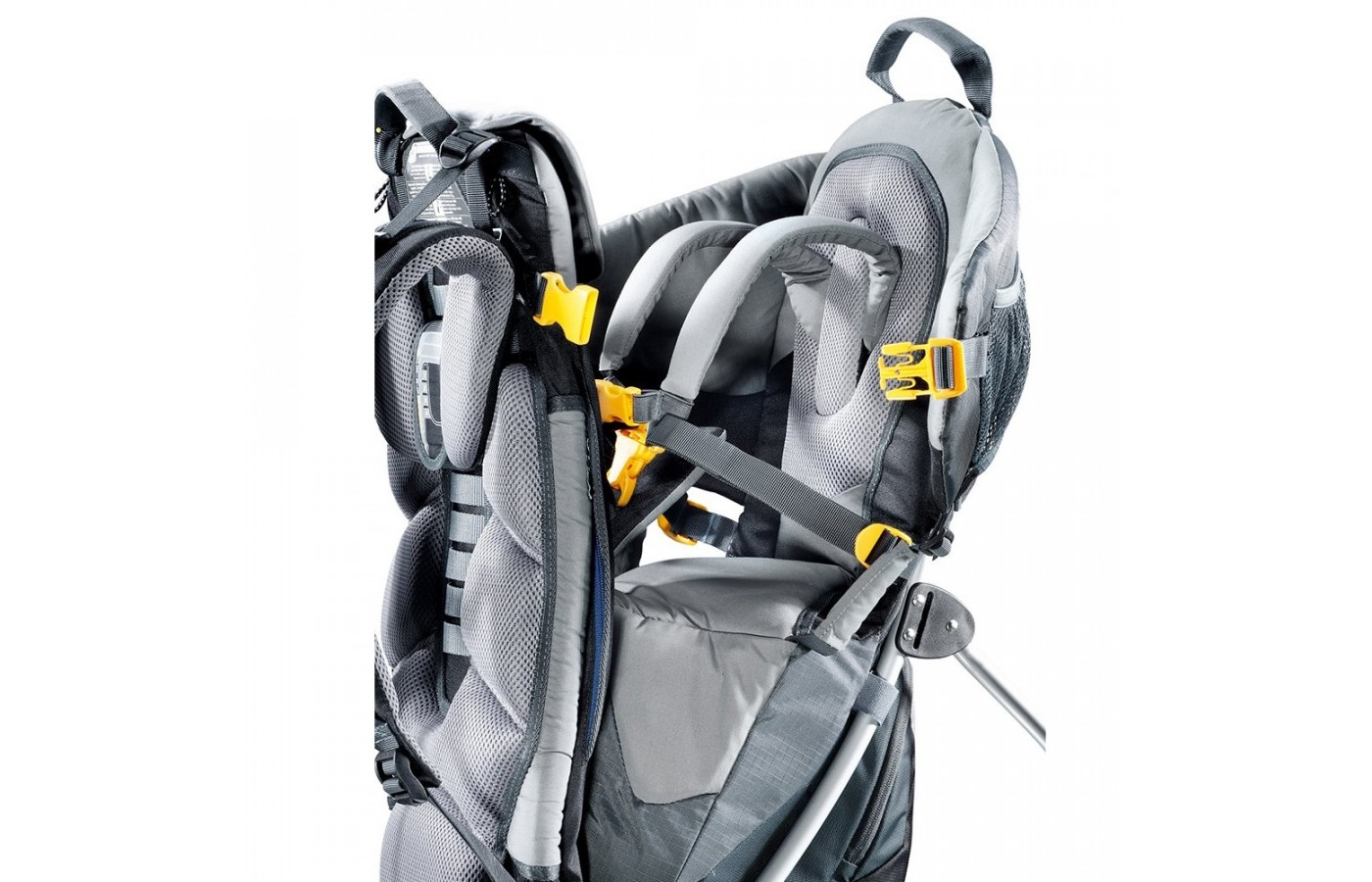 The Deuter Kid Comfort II offers safety straps to protect your little one when they are on your back.
