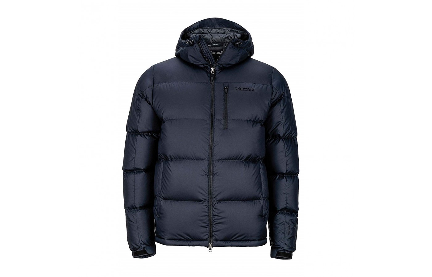 The Marmot Guides Down Hoody offers both wind and water resistance to withstand the elements.