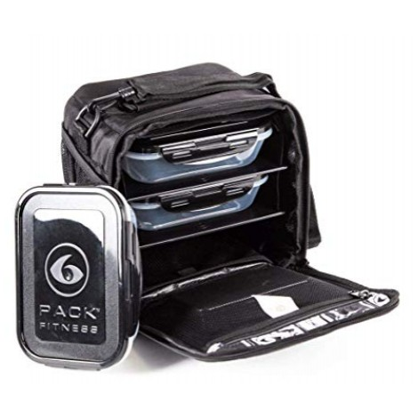 6 Pack Fitness Cube Meal Prep Bags