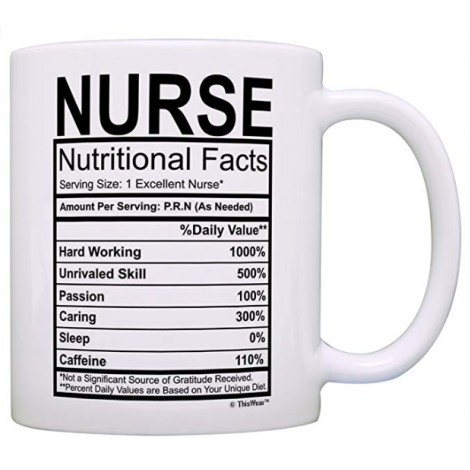 Gifts for Nurses - Nutritional Facts Coffee Mug