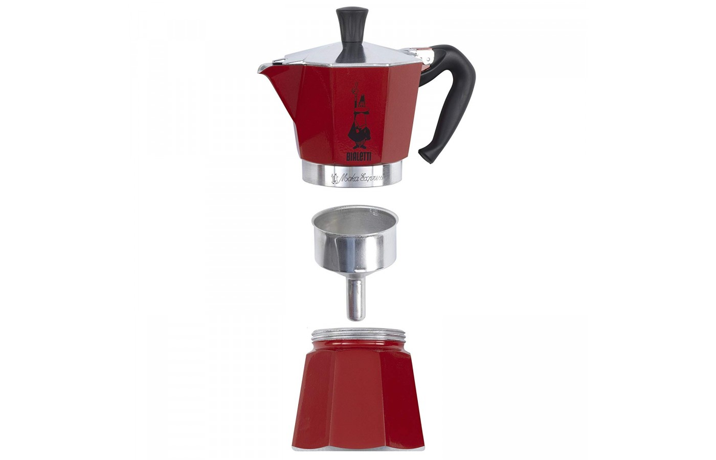 The Bialetti Moka Express offers a removable filter for easier cleaning.