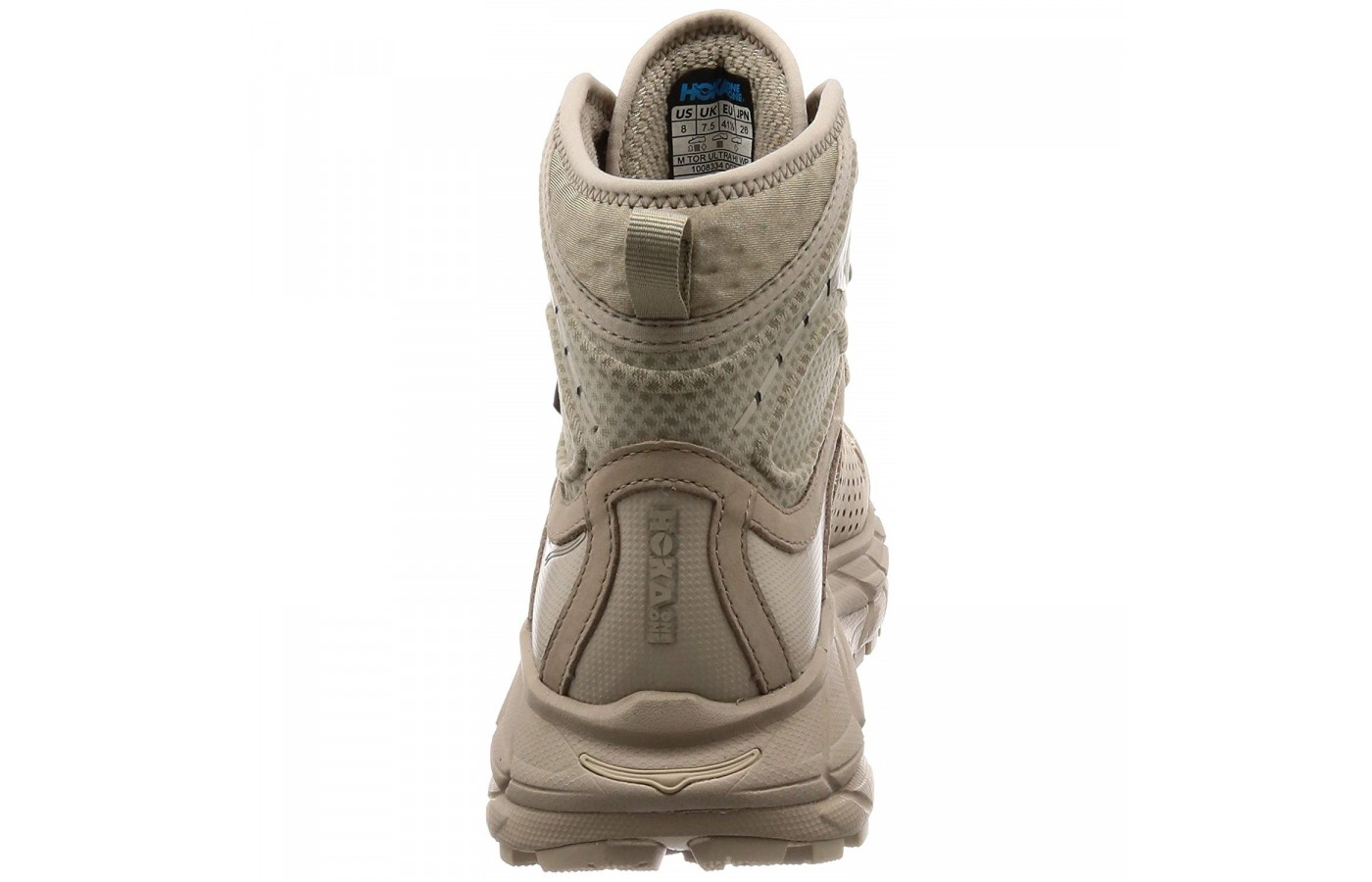 The Hoka One One Tor Ultra Hi WP offers extra thick, Vibram outsoles for protection from rocks along the way.