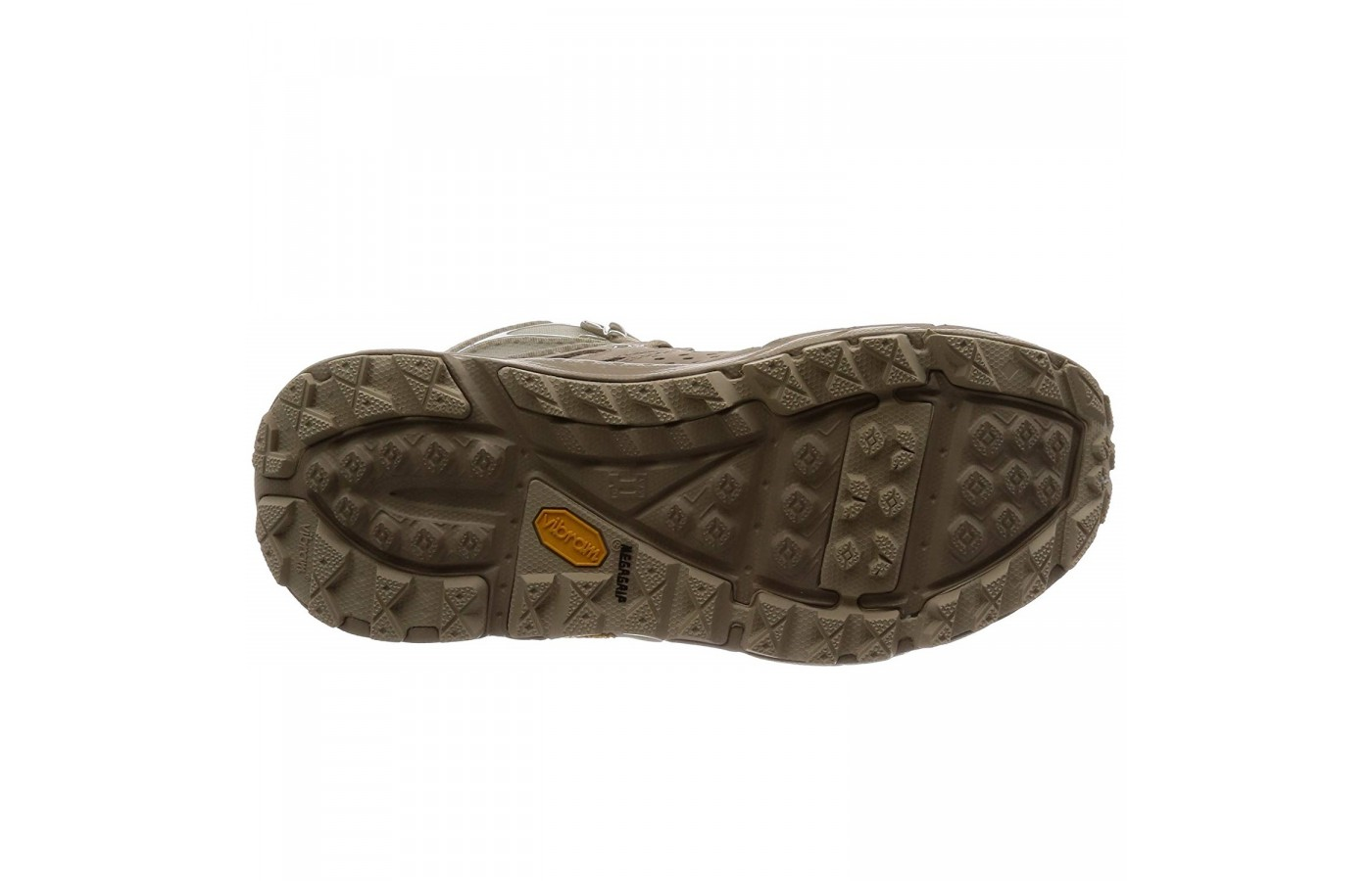 The Hoka One One Tor Ultra Hi WP offers a ultra-sticky outsole for a higher level of traction and safety.