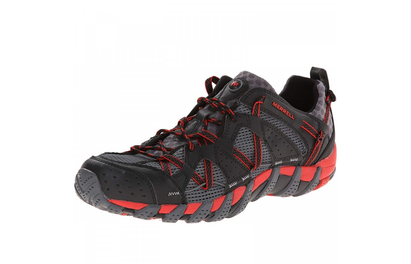 The Merrell Waterpro Maipo offers water friendly synthetic and mesh uppers for breathability and lightness.