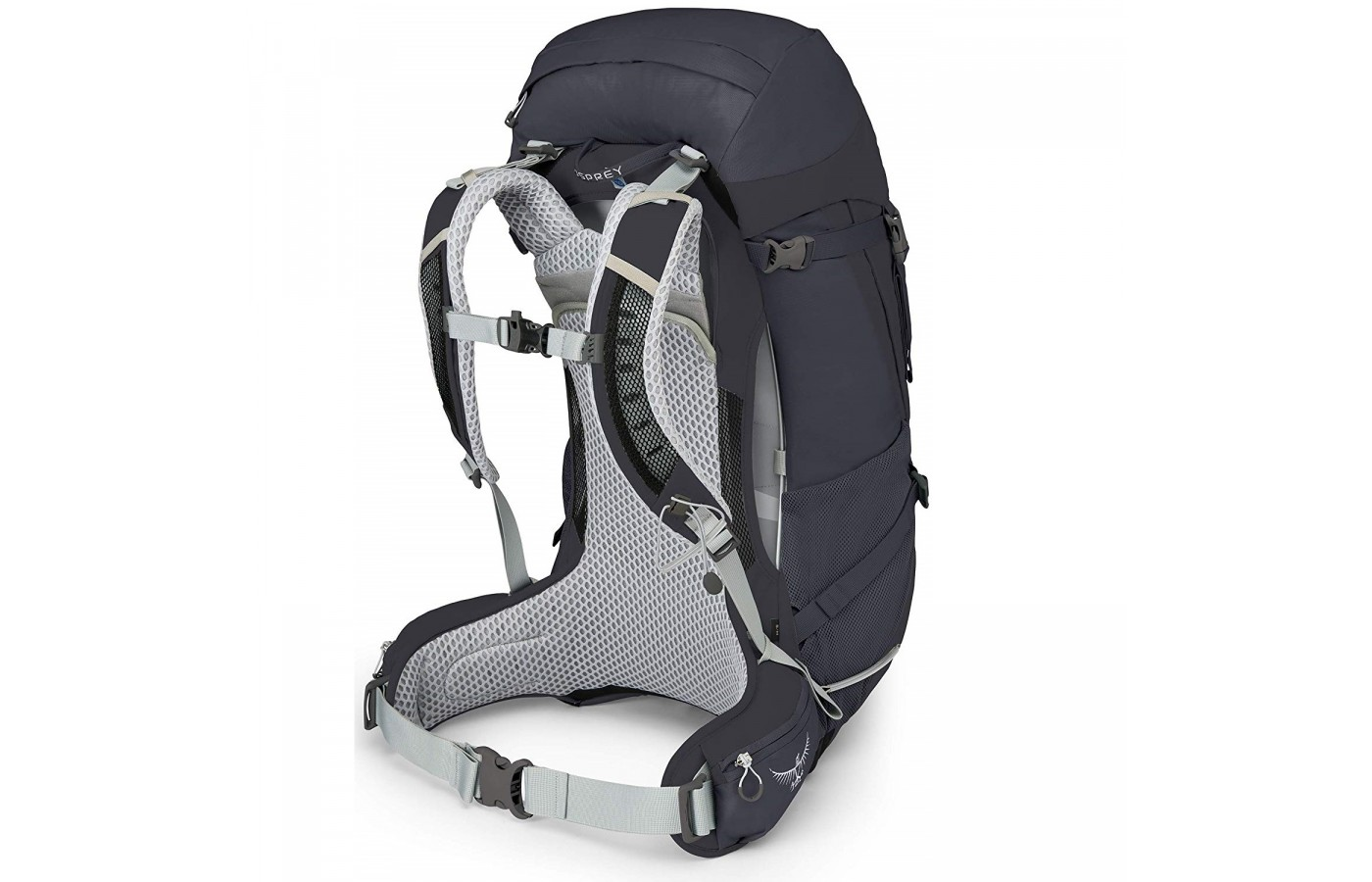 The Osprey Sirrus 50 offers full padded suspension system for support and weight distribution.