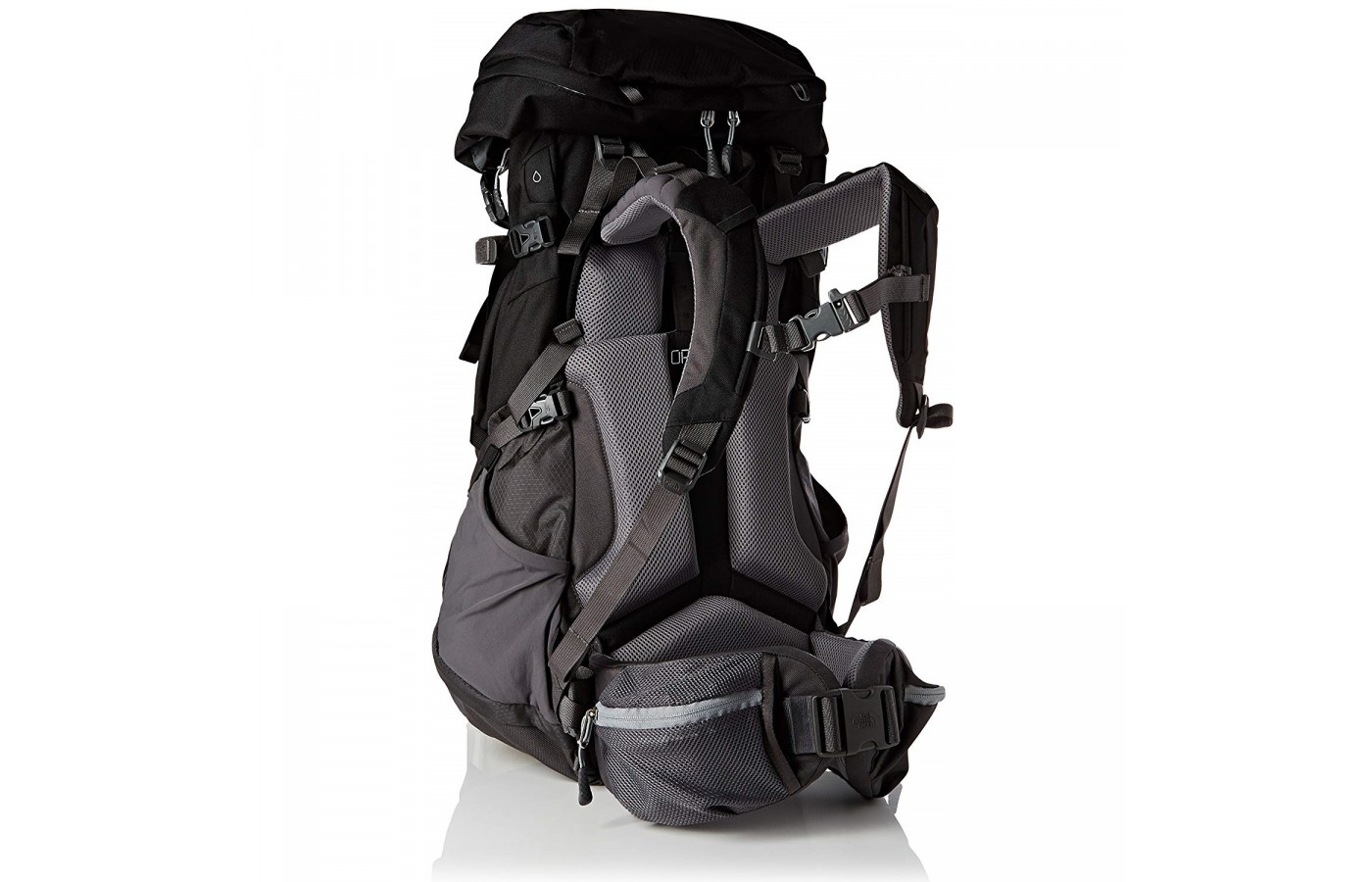 The North Face Terra 65 offers a vertical channel in order to help with ventilation and breathability.