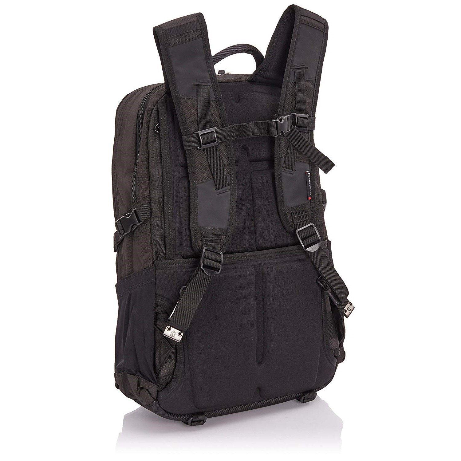 The Victorinox Backpack offers adjustable sternum straps for security.