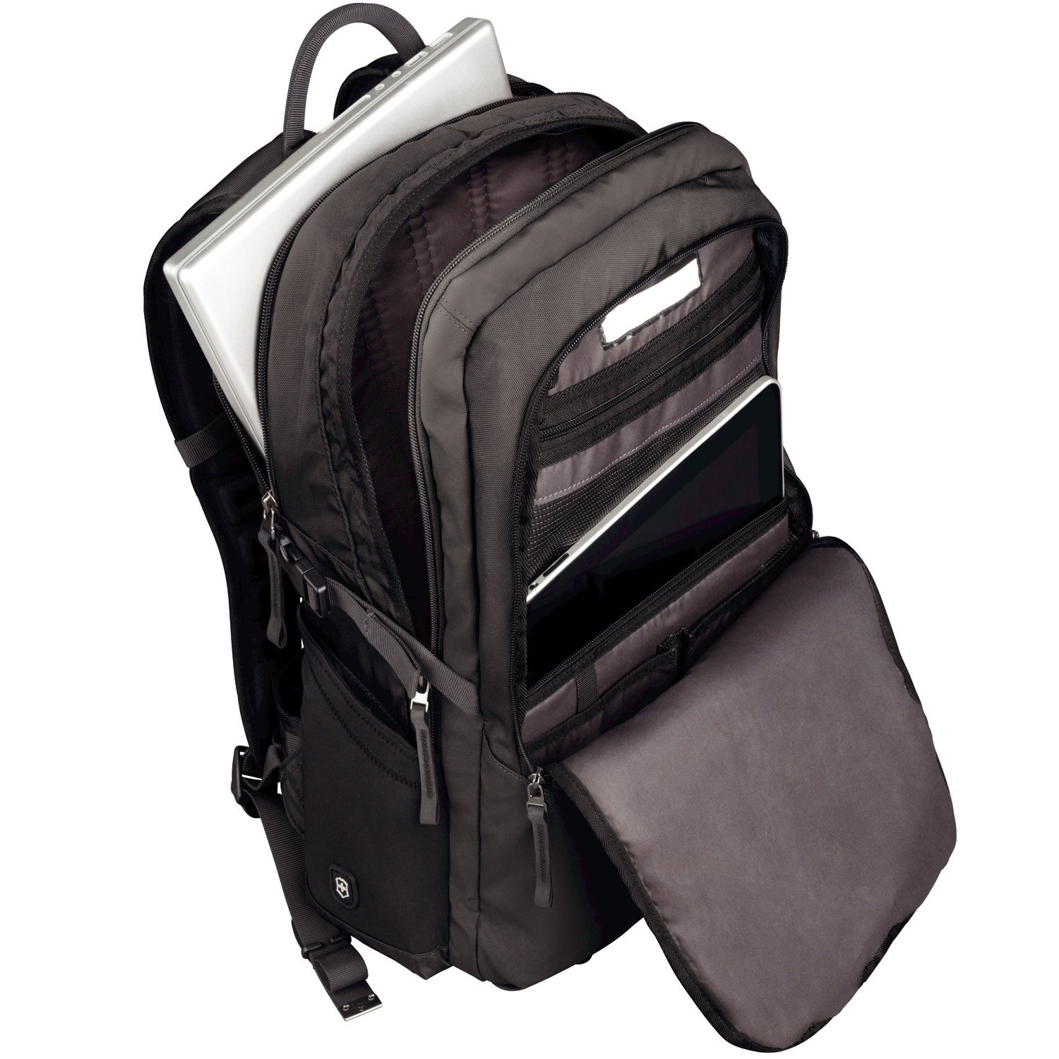 The Victorinox Backpack offers protective inside walls for protection of electronics.