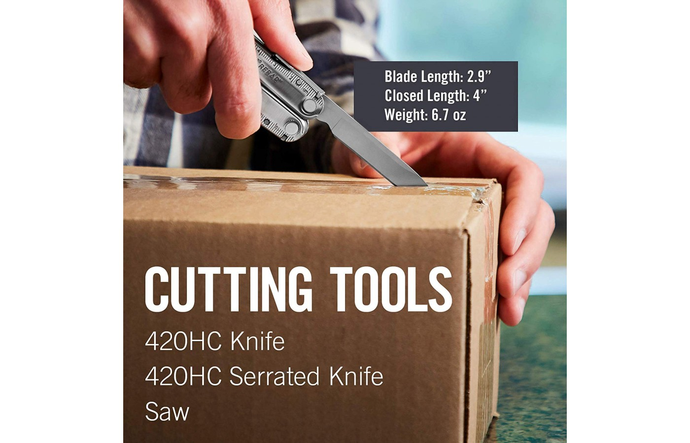 There are different cutting tools included with your Leatherman Rebar.