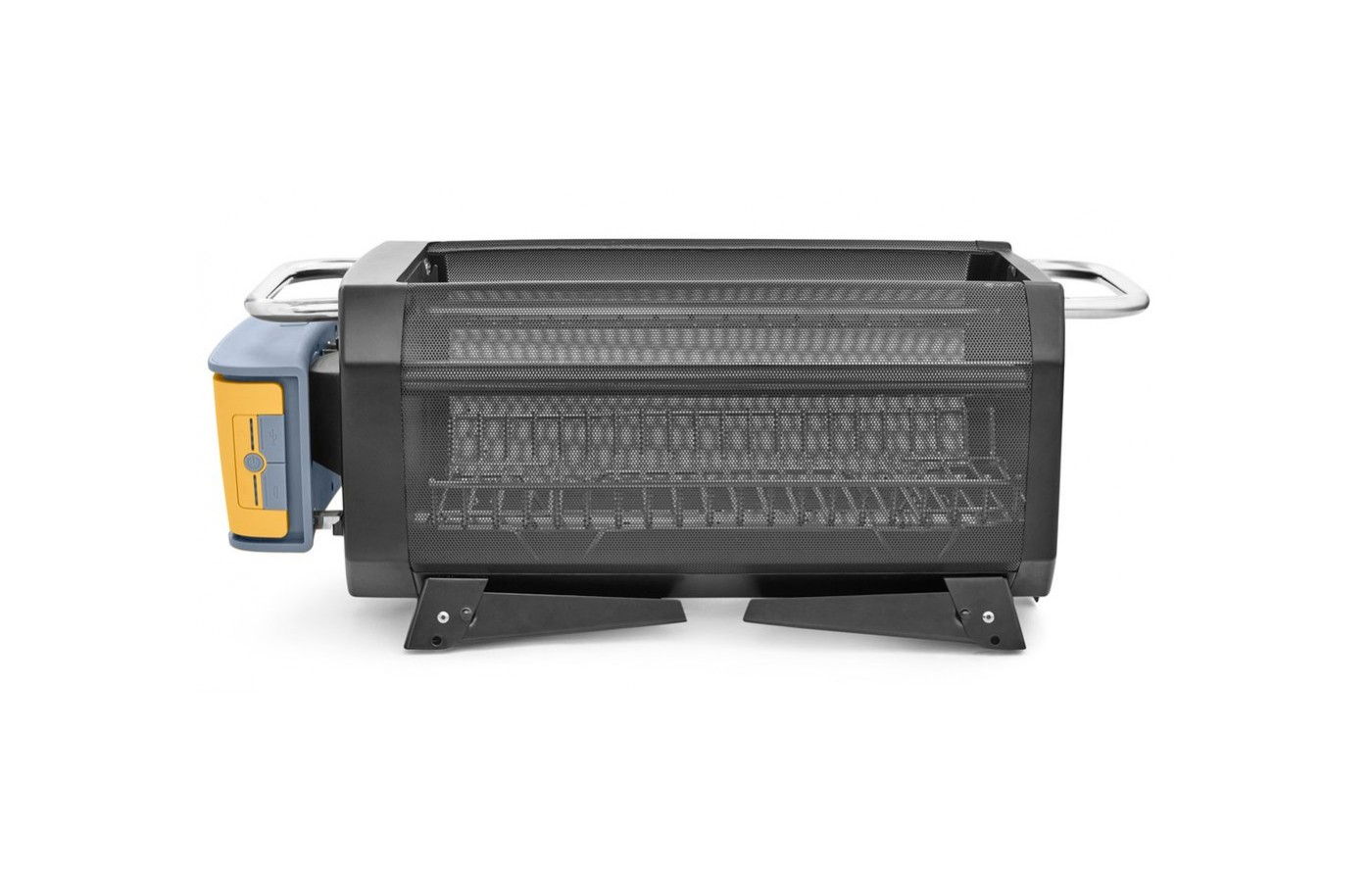 Folded up, this grill is semi-portable, allowing for shorter distances with ease.