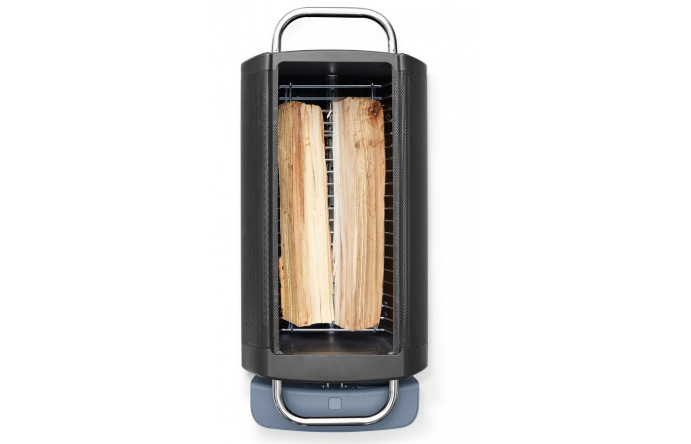 It's better to use cut logs for wood burning over sticks and branches with this grill.