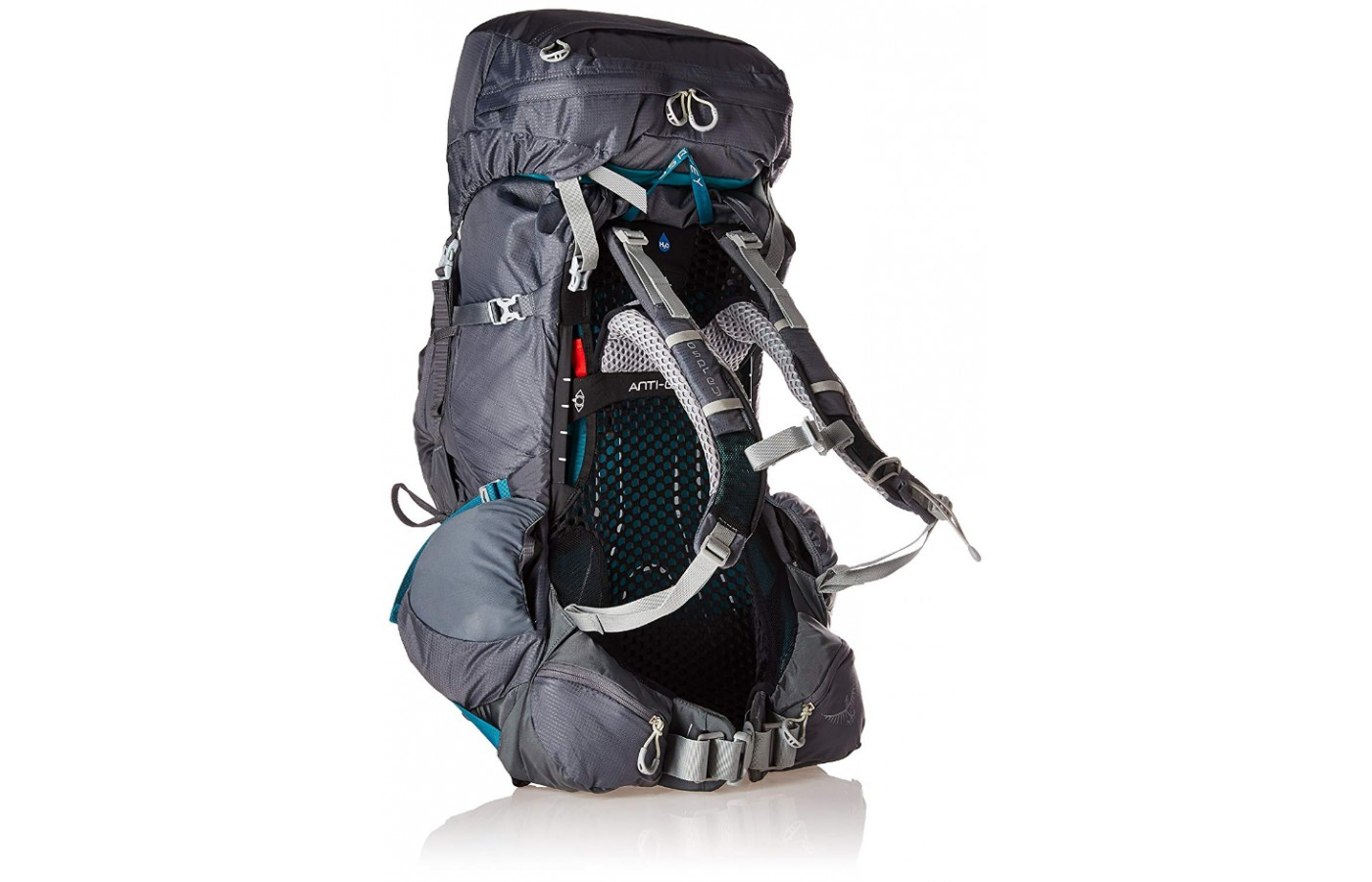 The mesh on the back offers both the anti-gravity suspension and ventilation to prevent overheating.