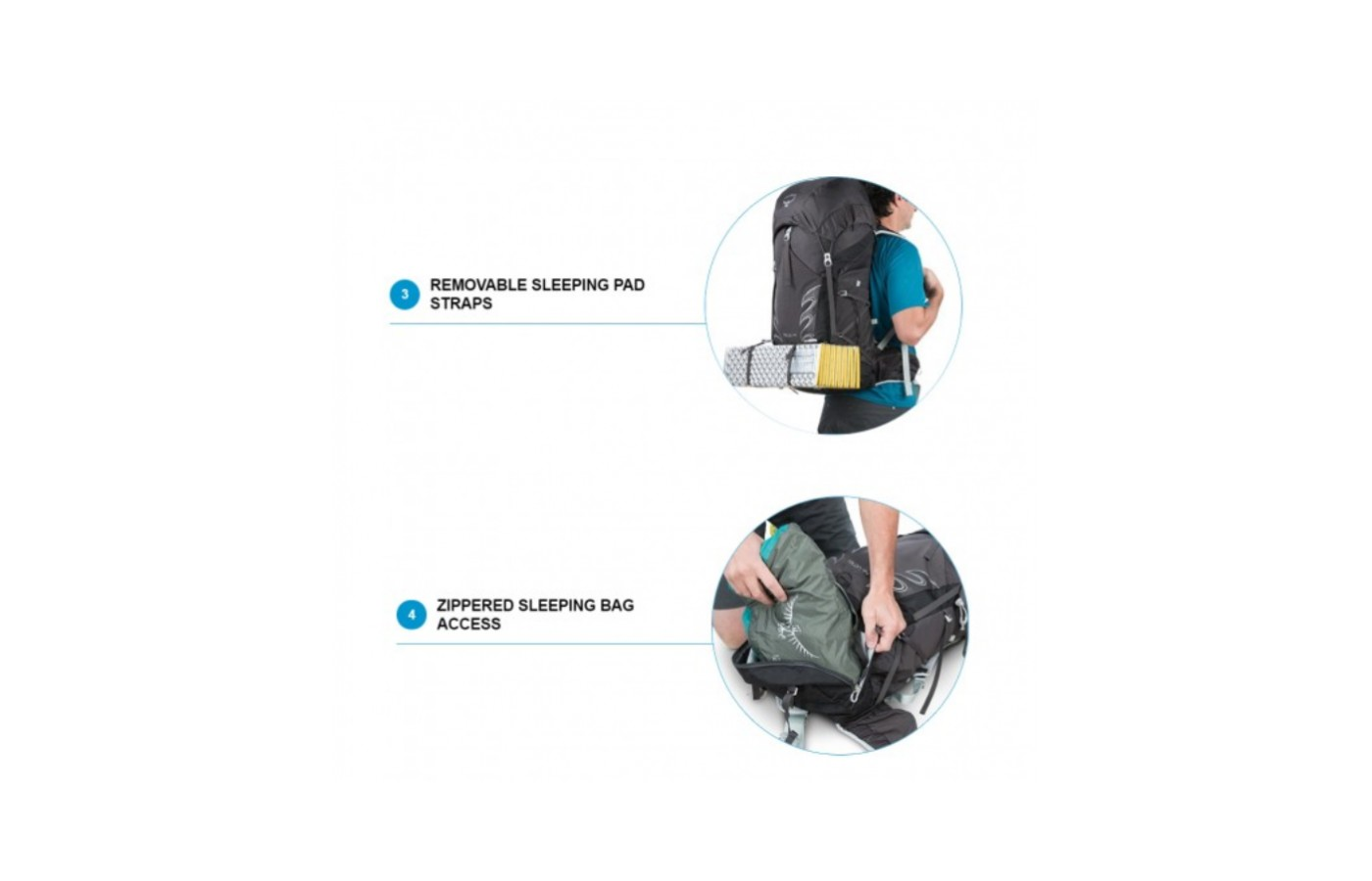This pack even has a lower storage pocket and straps for a sleeping pad and bag.