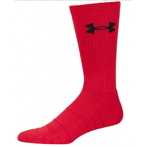 under armour elevated performance crossfit socks red