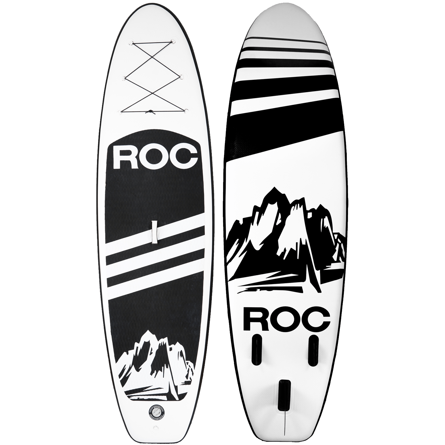 ROC Black Inflatable Paddle Board
