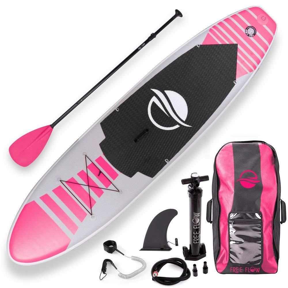 Serenelife Free Flow Inflatable SUP Pink