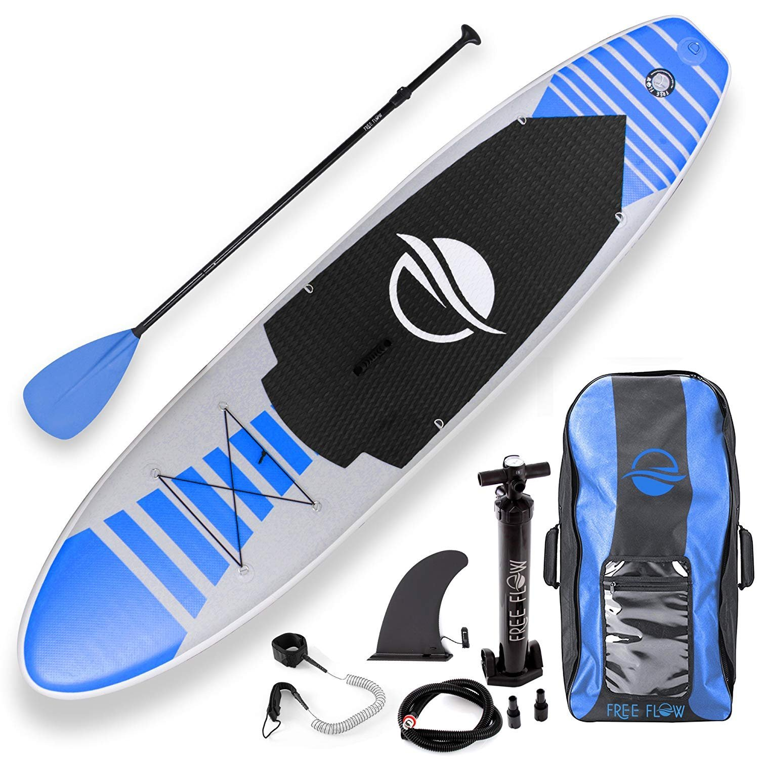 Serenelife Free Flow Inflatable SUP Blue