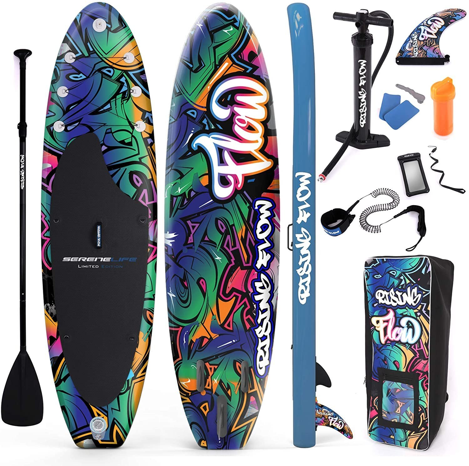 Serenelife Rising Flow Inflatable SUP Black