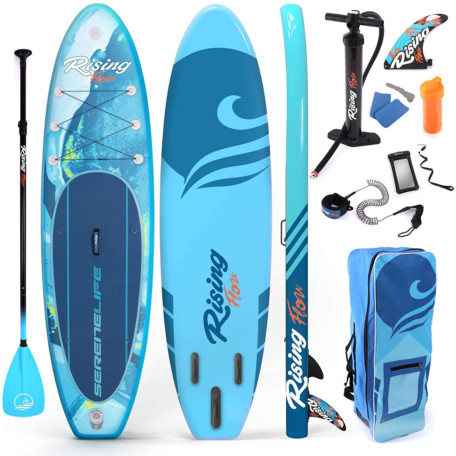 Serenelife Rising Flow Inflatable SUP Blue