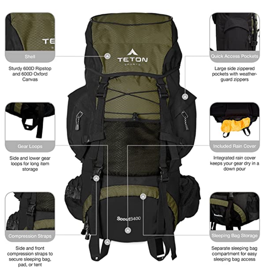 TETON Sports Scout 3400 Backpack