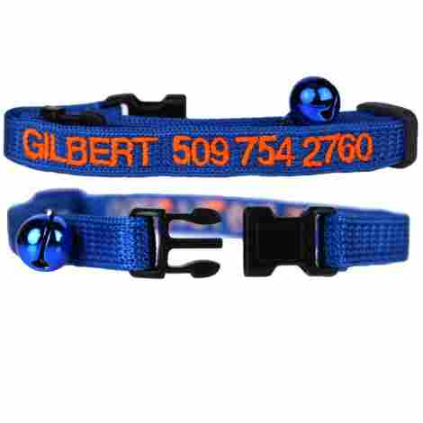 1. GoTags Embroidered Cat ID Collars