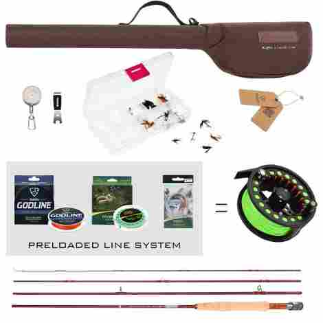 3. FISHINGSIR Fly Fishing Rod and Reel Combo