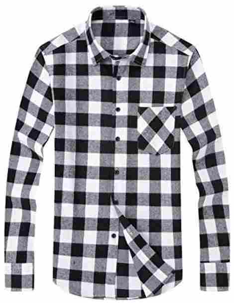 6. Dokkia Men's Button Bown Buffalo Plaid