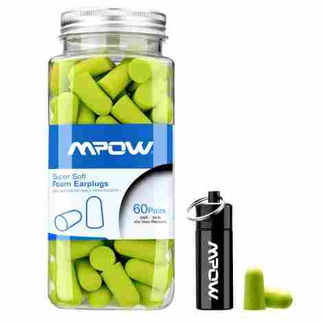 10. Mpow Foam Earplugs