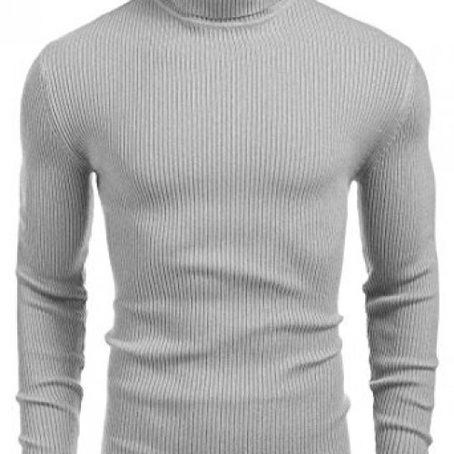 Coofandy Ribbed Slim Fit Knitted