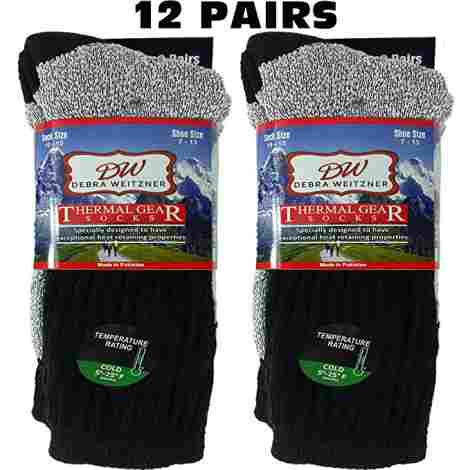 14. Debra Weitzner Ultra Warm Thermal Socks