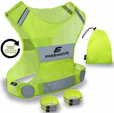 1. FreeMove Reflective Running Vest