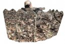 GhostBlind 6-Panel Runner Hunting Blind with man shooting a bow from behind it
