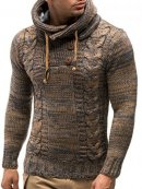 Leif Nelson LN20227 Knitted Pullover