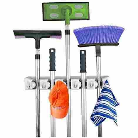 2. Mop and Broom Organizer
