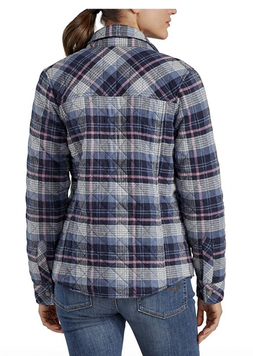Dickies womens Quilted Flannel Shirt Jacket 2