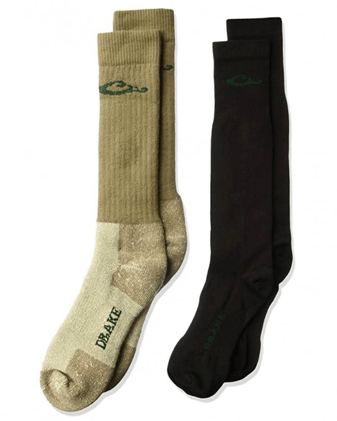 Drake Men's Merino Wool Cushion And Liner Cold Weather Boot Socks